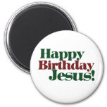 Feliz cumpleaños Jesús es navidad Imanes De Nevera