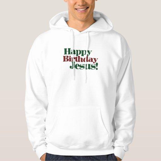 Feliz cumpleaños Jesús es navidad Sudaderas Con Capucha