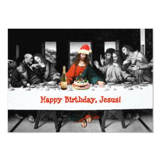 """¡Feliz cumpleaños, Jesús! Navidad divertido Invitación 5"""" X 7"""""""