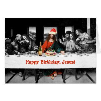 ¡Feliz cumpleaños, Jesús! Navidad divertido Tarjeta De Felicitación