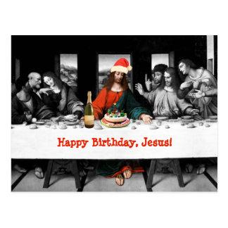 ¡Feliz cumpleaños, Jesús! Navidad divertido Tarjetas Postales