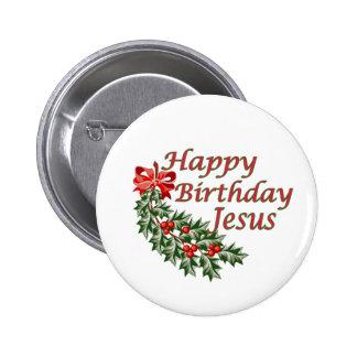 Feliz cumpleaños Jesús Pin Redondo De 2 Pulgadas