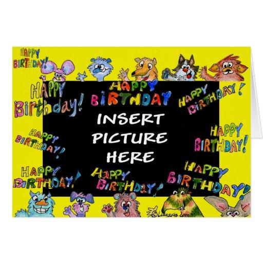 Feliz cumpleaños - la bestia desea la tarjeta de f