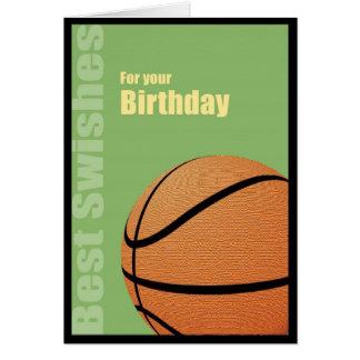 Feliz cumpleaños, la mejor tarjeta del baloncesto