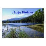 Feliz cumpleaños, lago bear, Colorado Tarjeta