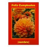 Feliz Cumpleaños - Las Dalias Naranjas