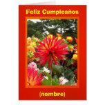 Feliz Cumpleaños - Las Dalias Rojas y Amarillas