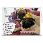 ¡Feliz cumpleaños! ¡Le hicimos una torta! Tarjeta De Felicitación