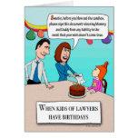 Feliz cumpleaños - legalmente hablando tarjeta