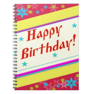 Feliz cumpleaños libro de apuntes