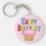 Feliz cumpleaños llaveros personalizados