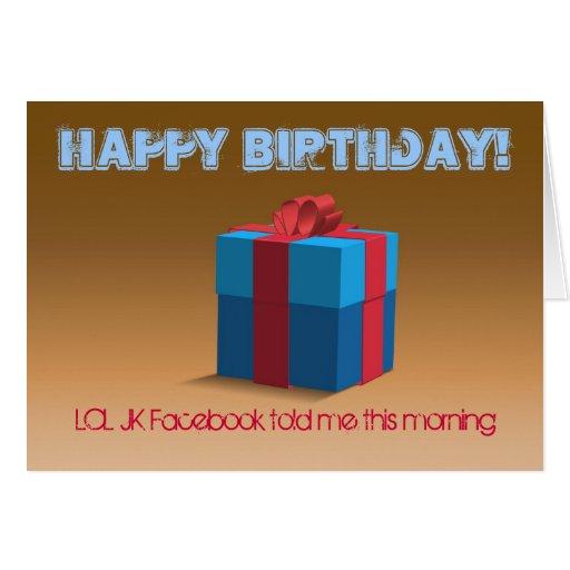 Feliz cumpleaños… LOL JK Tarjeta De Felicitación