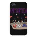 Feliz cumpleaños los E.E.U.U. iPhone 4/4S Funda