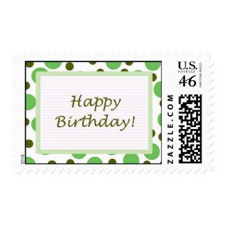 ¡Feliz cumpleaños Luz verde de los puntos