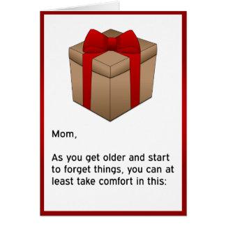Feliz cumpleaños - mamá olvidadiza tarjeta de felicitación
