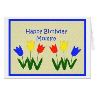 Feliz cumpleaños mamá felicitación