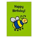 Feliz cumpleaños (manosee la abeja) felicitacion