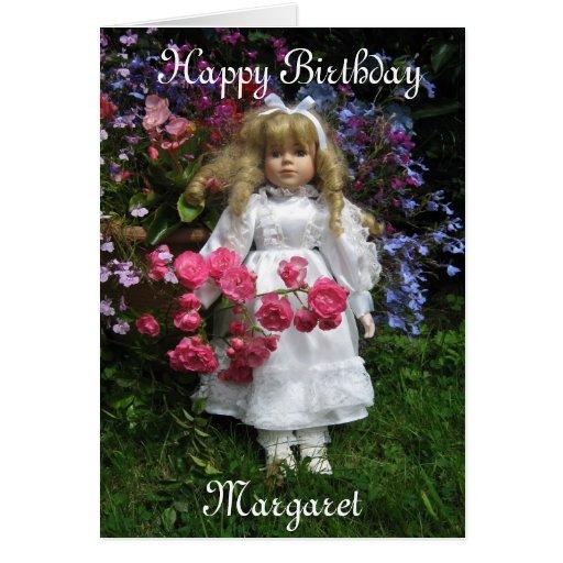 Feliz cumpleaños Margaret Tarjeton