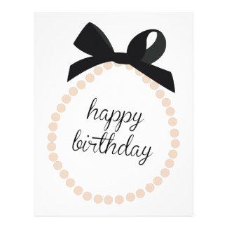 Feliz cumpleaños membretes personalizados