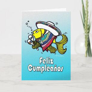 FELIZ CUMPLEANOS Mexican Fish Spanish Birthday Card