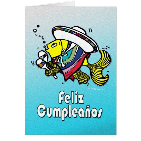 feliz cumpleaÑos mexican fish spanish birthday card  zazzle, Birthday card
