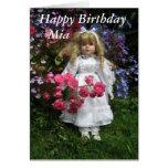Feliz cumpleaños Mia Felicitación