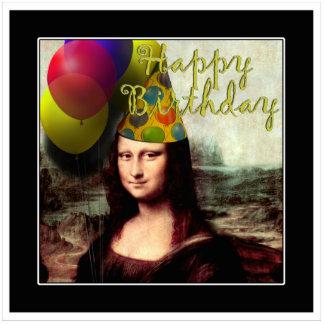 Feliz cumpleaños Mona Lisa Fotoescultura Vertical