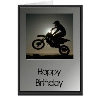 Feliz cumpleaños - motocrós tarjeta