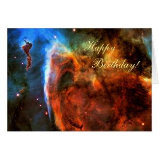 Feliz cumpleaños - nebulosa del ojo de la tarjeta de felicitación