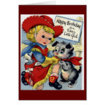 Feliz cumpleaños - niña tarjeta