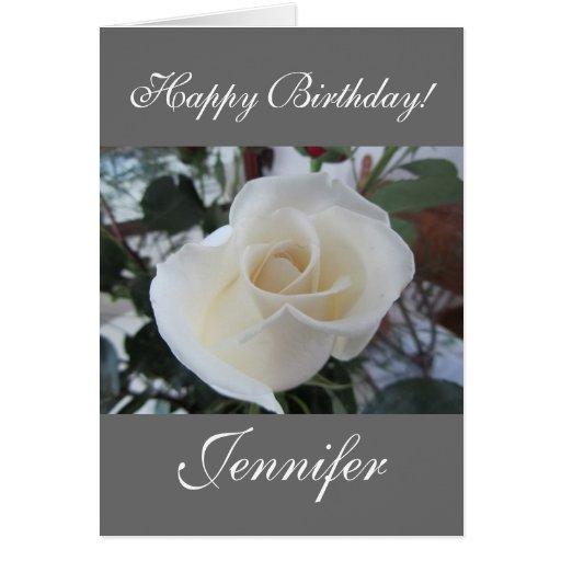 Feliz cumpleaños/nombre del personalizar tarjeta de felicitación