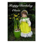 Feliz cumpleaños Olivia Tarjeta De Felicitación