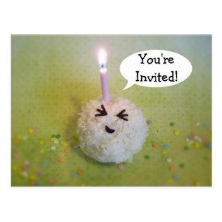 Feliz cumpleaños Onigiri - invitación adaptable Tarjeta Postal