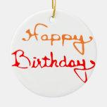 Feliz cumpleaños ornamentos de reyes