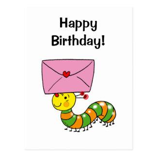 ¡Feliz cumpleaños! (oruga) Postales