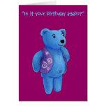 Feliz cumpleaños - oso de peluche de Quinn Tarjeta
