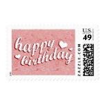 feliz cumpleaños: Paisley rosada: Sellos