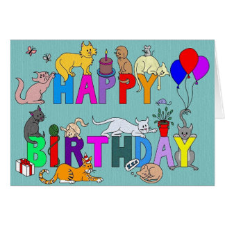 Feliz cumpleaños para el amante del gato tarjeta de felicitación
