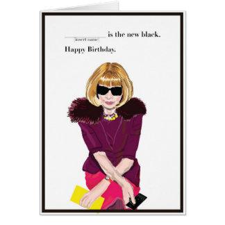 Feliz cumpleaños para el fashionista tarjeta de felicitación