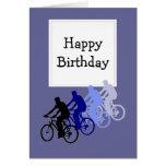 Feliz cumpleaños para sobre la bici de la colina,  felicitación