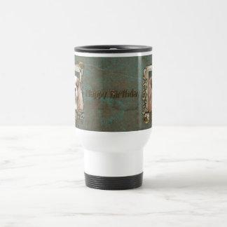 Feliz cumpleaños - patas de piedra - caballeros -  tazas de café