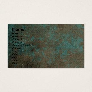 Feliz cumpleaños - patas de piedra - cobre del tarjetas de visita