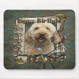 Feliz cumpleaños - patas de piedra - GoldenDoodle  Tapete De Ratón
