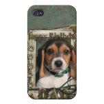 Feliz cumpleaños - patas de piedra - perrito del b iPhone 4 carcasa