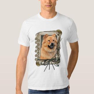 Feliz cumpleaños - patas de piedra - perro chino polera