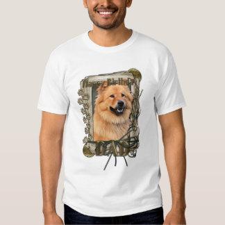 Feliz cumpleaños - patas de piedra - perro chino remera