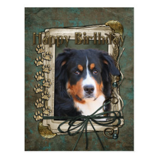 Feliz cumpleaños - patas de piedra - perro de postal