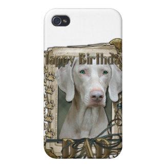 Feliz cumpleaños - patas de piedra - Weimeraner -  iPhone 4 Cárcasa