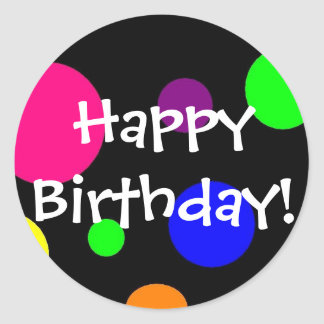 ¡Feliz cumpleaños! Pegatinas Redondas