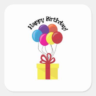 ¡Feliz cumpleaños! Pegatina Cuadrada